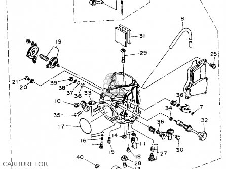 Yamaha YFM400FWE KODIAK 1993 parts lists and schematics