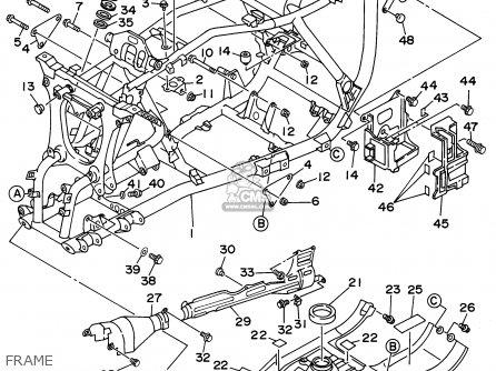 Yamaha Yfm400fwg 1995 parts list partsmanual partsfiche