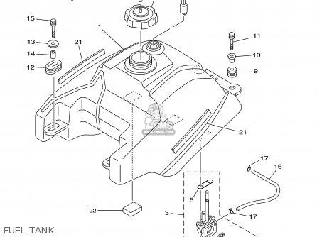 Yamaha Yfm400fwr 2003 50 States parts list partsmanual