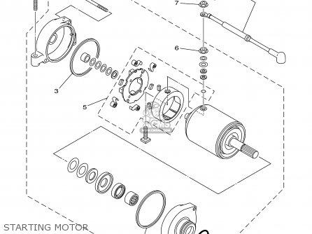 Yamaha YFM450FAR 2003 USA EXCEPT CALIFORNIA parts lists
