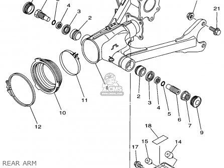 Yamaha Yfm600fwak 1998 4wv1 Usa parts list partsmanual