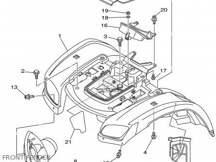 Yamaha YFM660FP 2002 USA EXCEPT CALIFORNIA parts lists and