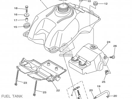 Yamaha YFM660RPB 2002 USA 50 STATES parts lists and schematics