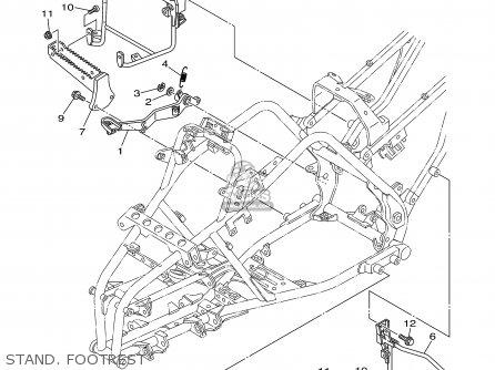 Yamaha YFM660RR 2003 USA EXCEPT CALIFORNIA parts lists and