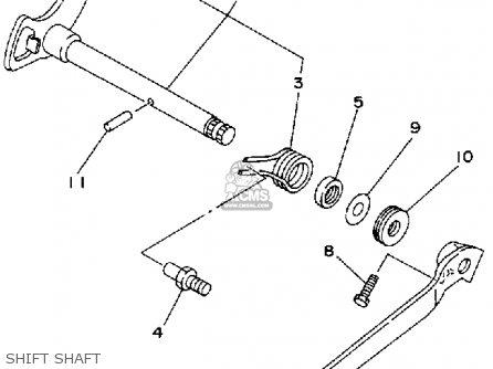 Yamaha Yfm80d 1992 parts list partsmanual partsfiche