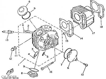 Yamaha Yfm80n 1985 Moto-4 parts list partsmanual partsfiche