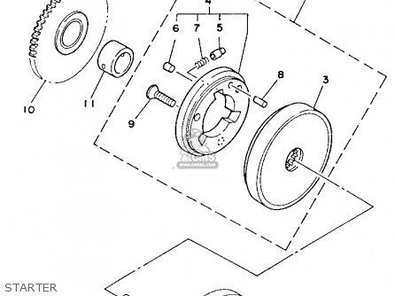 Yamaha YFM80N 1985 MOTO-4 parts lists and schematics