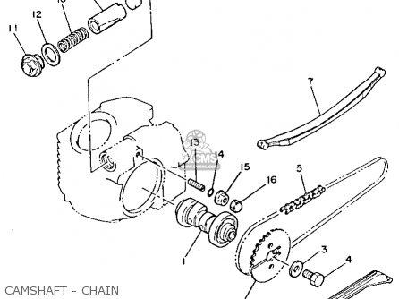 Yamaha Yfm80n Moto-4 1985 parts list partsmanual partsfiche