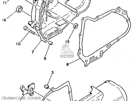 Yamaha Yfm80s Moto-4 1986 parts list partsmanual partsfiche