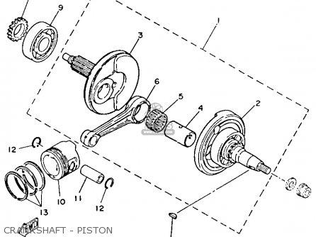Yamaha YFM80S MOTO-4 1986 parts lists and schematics