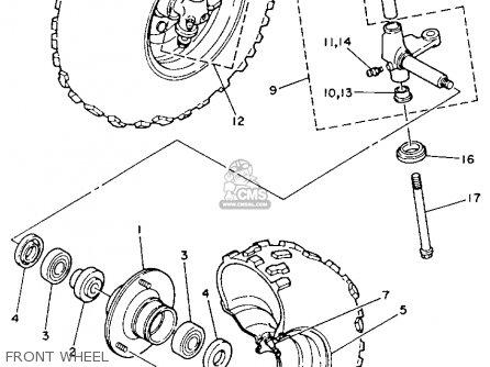 Yamaha Yfm80s Moto-4 1986 parts list partsmanual partsfiche