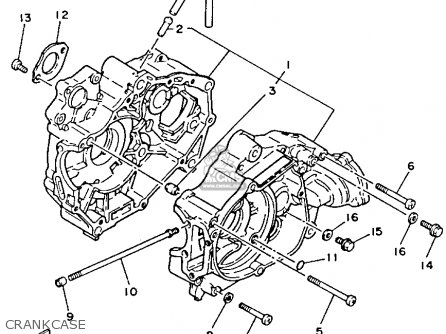 Yamaha YFM80T MOTO-4 1987 parts lists and schematics