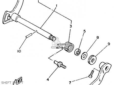 Yamaha Yfm80t Moto-4 1987 parts list partsmanual partsfiche