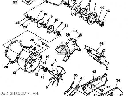 Yamaha Yfp350u Terrapro 1988 parts list partsmanual partsfiche
