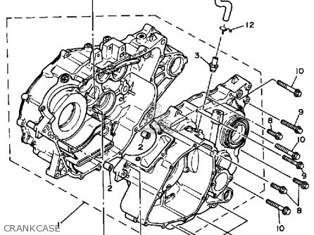 Yamaha Yfp350u Terrapro 1988 parts list partsmanual partsfiche