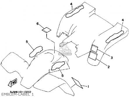 Yamaha Yfs200b Blaster 1992 parts list partsmanual partsfiche