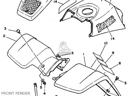 Yamaha YFS200U 1988 2XJ BLASTER parts lists and schematics