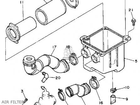Yamaha Yfu1tw Pro Hauler 1989 parts list partsmanual