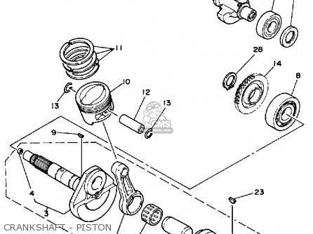 Yamaha Yfu1w 1989 Prohauler parts list partsmanual partsfiche