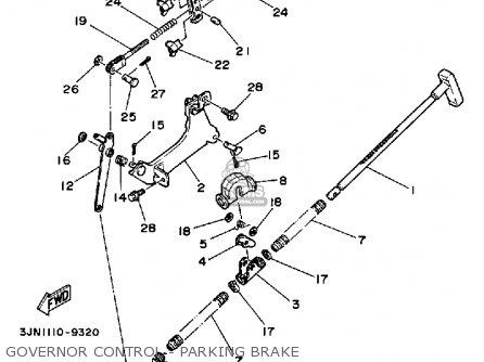 Yamaha YFU1W 1989 PROHAULER parts lists and schematics