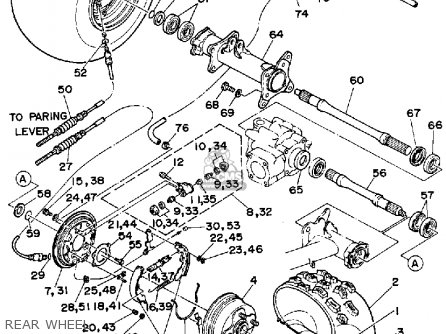 Yamaha YFU1W 1989 PROHAULER parts lists and schematics