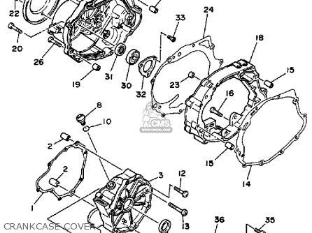 Yamaha Yfu1w Prohauler 1989 parts list partsmanual partsfiche