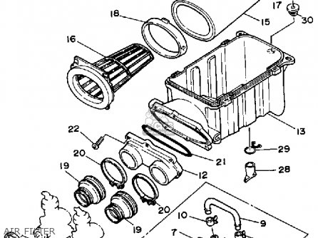 Yamaha Yfz350a Banshee 1990 parts list partsmanual partsfiche