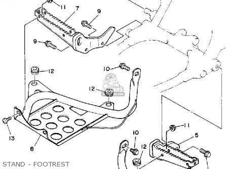 Yamaha Yfz350a Banshee 1990 parts list partsmanual partsfiche