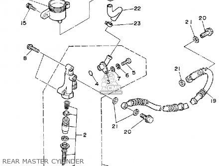Yamaha YFZ350D BANSHEE 1992 parts lists and schematics