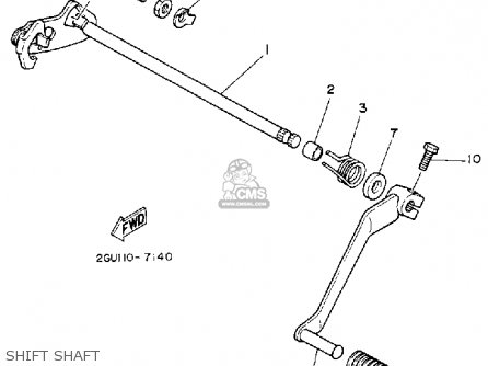 Yamaha Yfz350d Banshee 1992 parts list partsmanual partsfiche