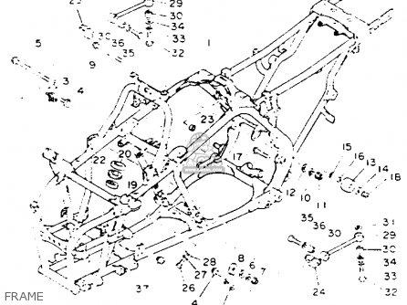 Yamaha YFZ350E BANSHEE 1993 parts lists and schematics