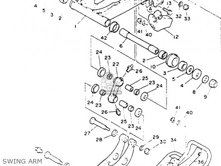 Yamaha YFZ350E BANSHEE 1993 parts lists and schematics