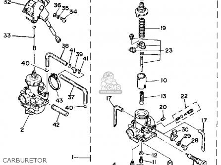 Yamaha YFZ350T 1987 BANSHEE parts lists and schematics