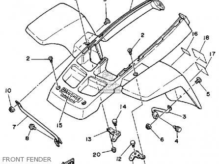 Yamaha Yfz350t Banshee 1987 parts list partsmanual partsfiche