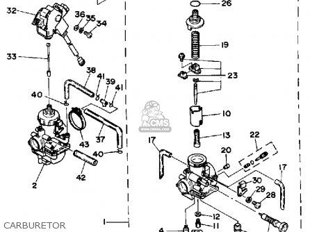 Yamaha Yfz350u 1988 Banshee parts list partsmanual partsfiche