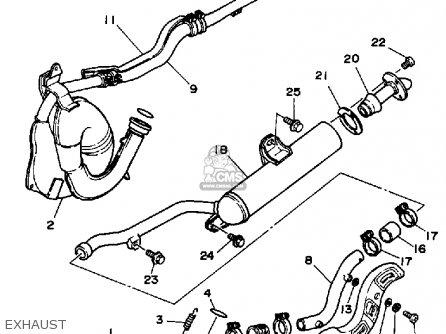 Yamaha YFZ350U 1988 BANSHEE parts lists and schematics
