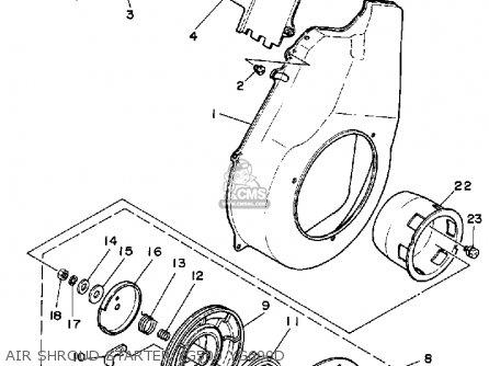 Yamaha Yg500d/yg600d/de 1998 parts list partsmanual partsfiche