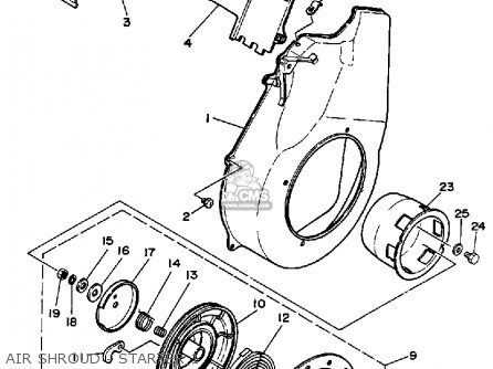 Yamaha YG550D 7ME2 YG650D 7MD2 YG650DE 7MD2 GENERATOR