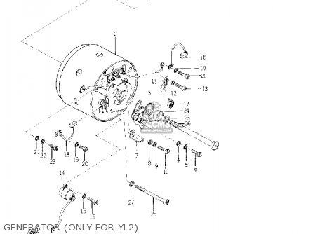 Yamaha Yl2 1967 1968 Usa parts list partsmanual partsfiche