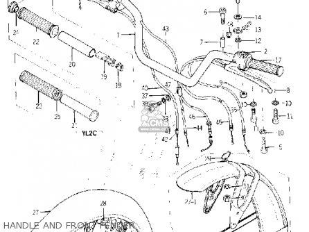 Yamaha Yl2 1967/1968 parts list partsmanual partsfiche