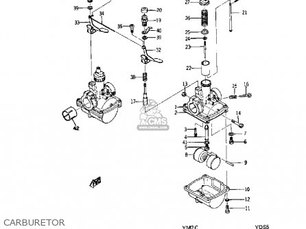Yamaha Ym2c 1967 Usa parts list partsmanual partsfiche