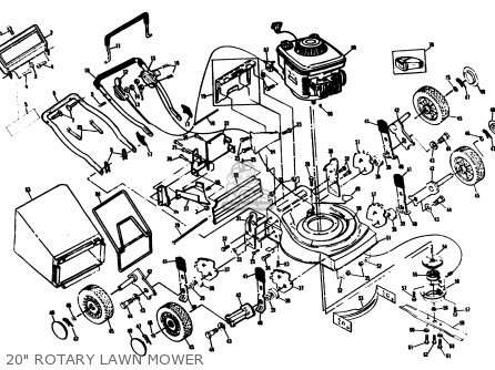 Yamaha YMS204QP ROTARY LAWN MOWER parts lists and schematics