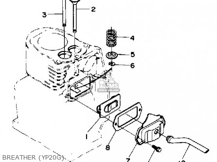 Yamaha Yp20g/ga-yp30g/ga Wa parts list partsmanual partsfiche