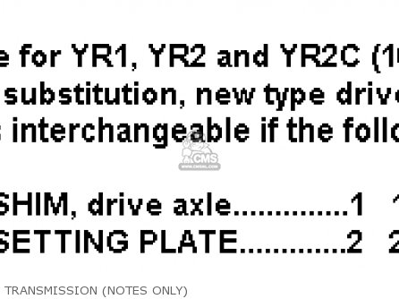 Yamaha Yr2c Dual Purpose 1967 1968 California parts list