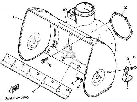Yamaha Ys240tb Snow Blower 1990 parts list partsmanual