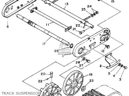 Yamaha YS240TB SNOW BLOWER 1990 parts lists and schematics