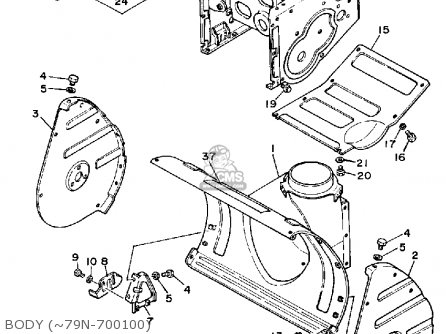 Yamaha Ys624t Snow Thrower 1988 parts list partsmanual