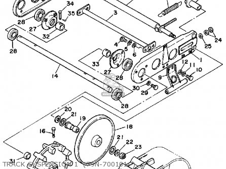 Yamaha YS624T SNOW THROWER 1988 parts lists and schematics