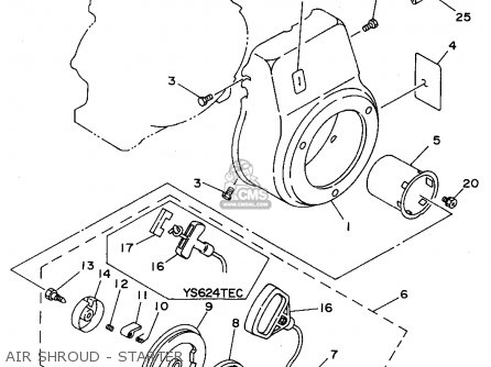 Yamaha Ys624tc/tec 1994 parts list partsmanual partsfiche
