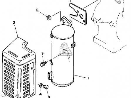 Yamaha Ys624tm Snow Blower 1988 parts list partsmanual